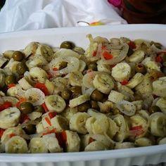 guineitos en escabeche - Pickled green bananas