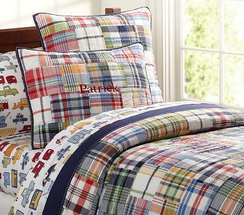 Madras Quilted Bedding Super Cute In A Guest Room Minus