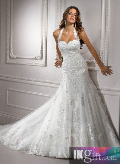 I like this - Gorgeous Mermaid Halter Floor Length Lace Wedding Dress. Do you think I should buy it?