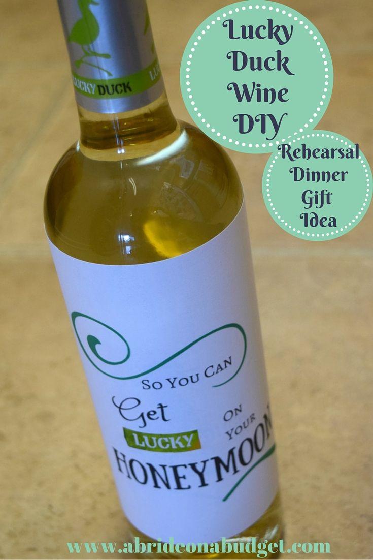 Lucky Duck Wine DIY (Rehearsal Dinner Gift Idea) | A Bride On A Budget