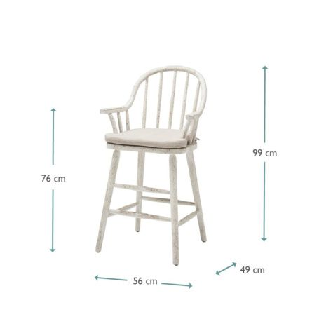 Natter Kitchen Stool | Wooden Breakfast Bar Chair | Loaf