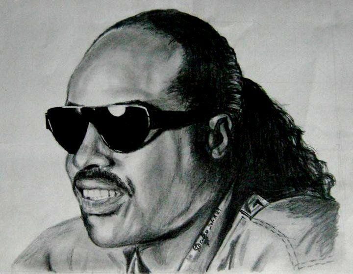 stevie wonder pencil portrait