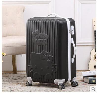 "Luxury Brand 20"" 24"" Inch Women Travel Luggage Suitcase Travel Trolley Case Spinner Travel Spinner Case Rolling Luggage Case"