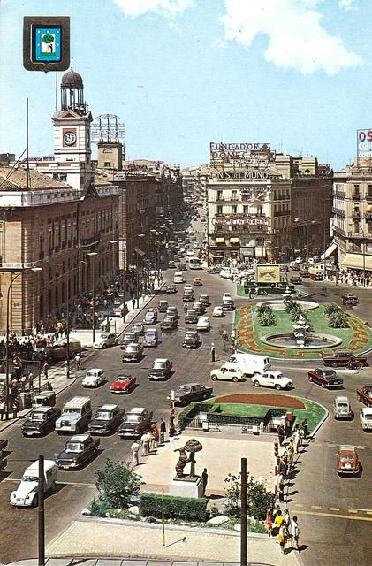 Puerta del Sol. 1970