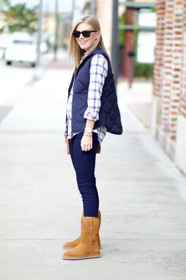 Easy Fall Fashion Outfit Idea to Recreate | J.Crew Top & Puffer Vest, - 120 Best Style // Fall & Winter Images On Pinterest Party