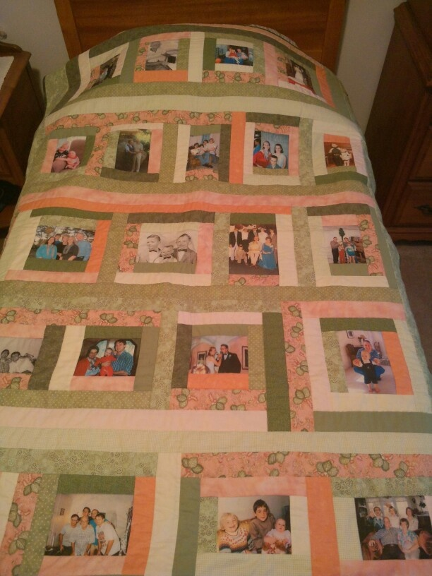 Graduation Gift Ideas >> photo quilt - family memories | Quilt Design ideas | Quilts, Photo quilts, Quilt patterns