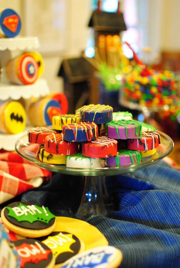 Super Hero Party #superhero #oreos