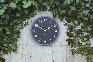 ECO Round Clock 30cm Outdoor Indoor 100 Recycled Material Ashortwalk Gift BOX from Janggalay