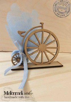 Μπομπονιέρα ξύλινο ποδηλατάκι