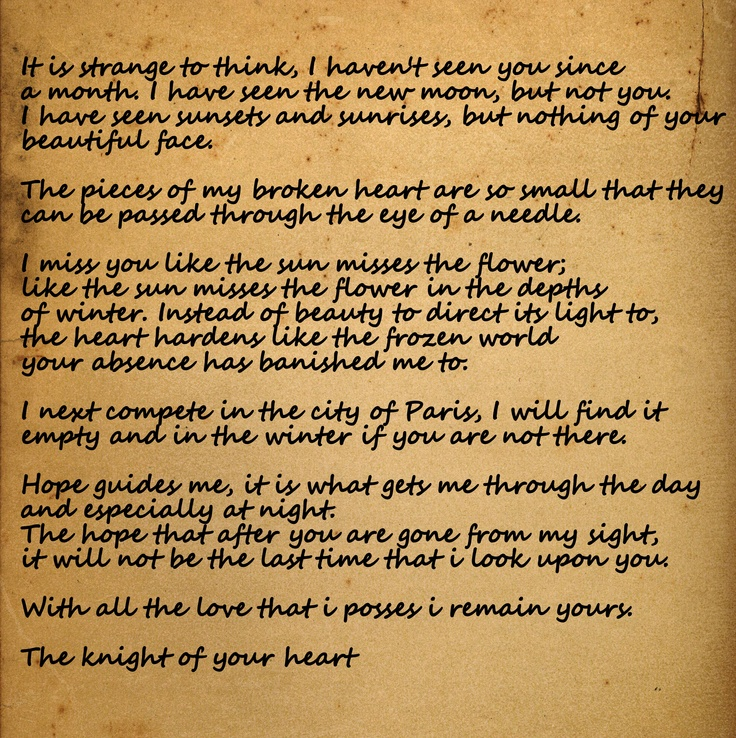 letter to Jocelyn a knights tale   quotes   Pinterest
