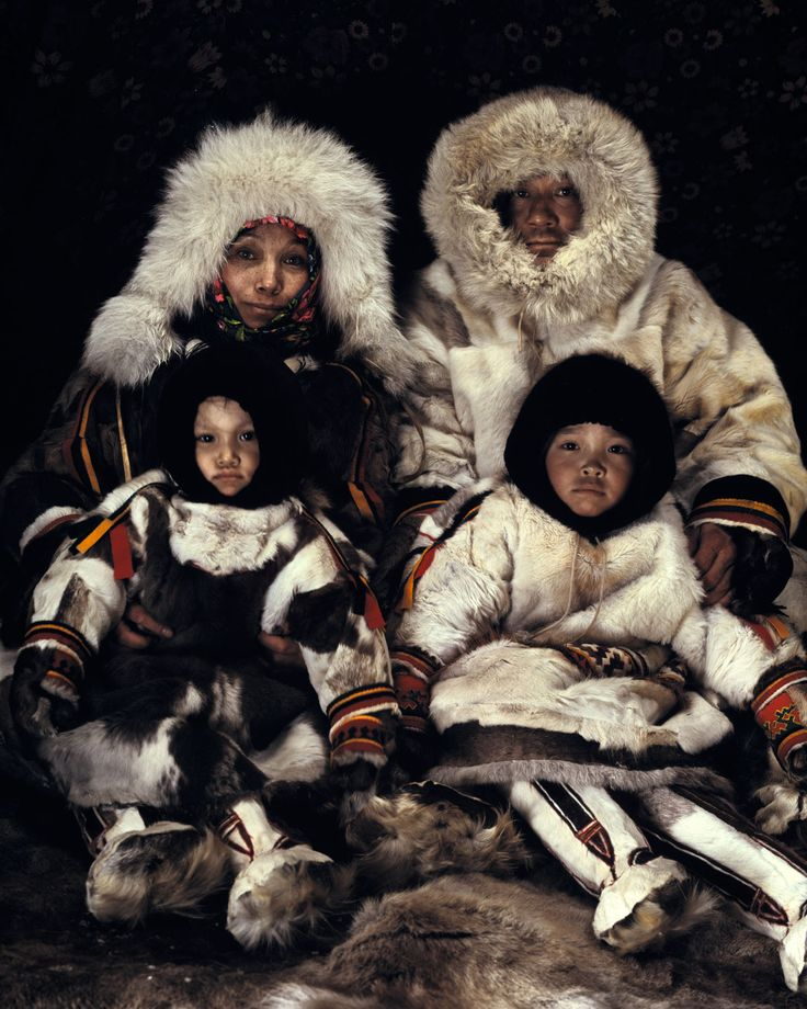Siberia: the Nenets are completely isolated reindeer herders, living with temperatures from minus 50°C in winter to 35°C in summer.