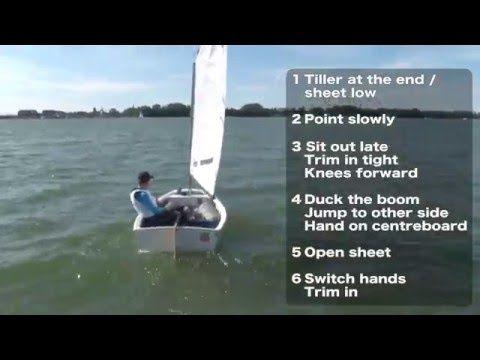 Optimist sailing - tacking - http://sailinghq.net/optimist-sailing-tacking/