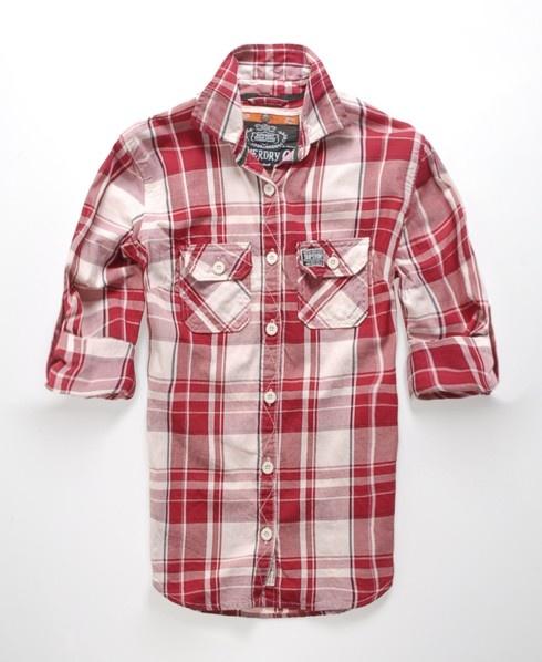 Superdry Lumberjack Twill Shirt as seen on Shannon Elizabeth