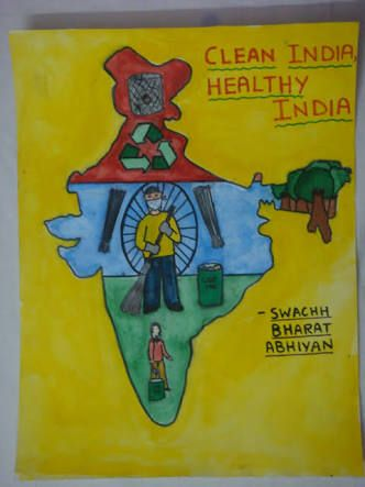 Image Result For Drawing Poster On Swachh Bharat Drawings