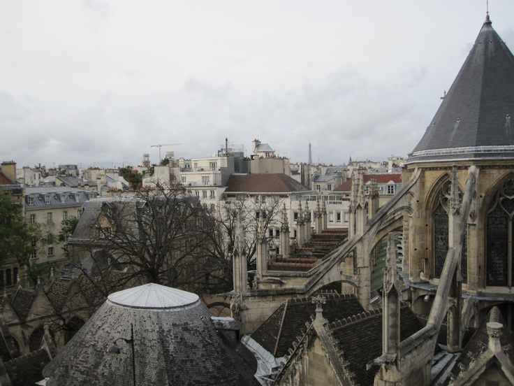 Paris, a room with a view; Saint Séverin, quartier latin.