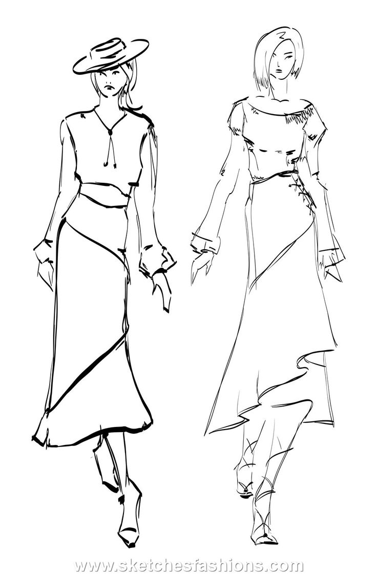 dress sketch Sketches, Fashion design sketches, Model sketch