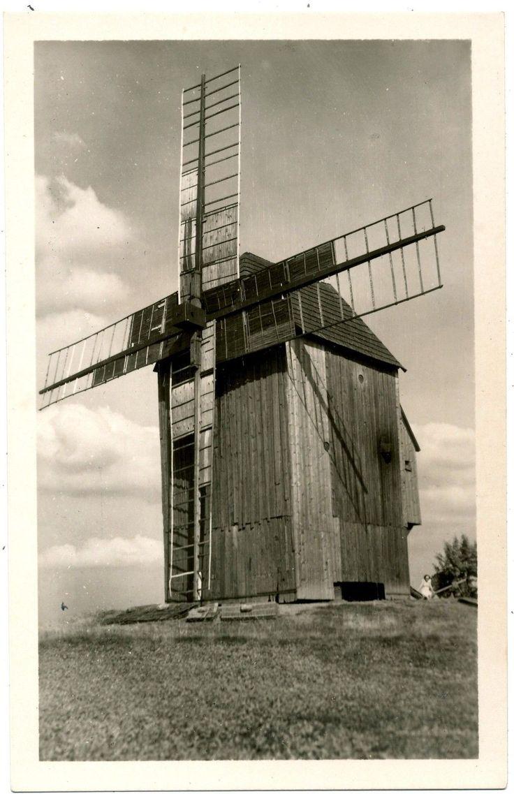 Wind-mill In Letoviska Pecky,Czechoslovakia,Postcard 1930's | eBay