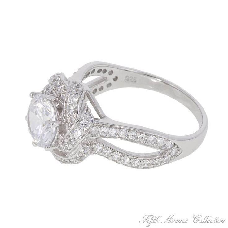 05 Rhodium Ring,Clear-Fifth Avenue Collection Australia,beautiful jewellery,beautiful people,beautiful life