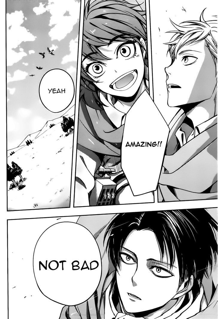Attack on Titan: A Choice with no Regrets ||| Farlan, Isabel and Levi going outside the walls for the first time.