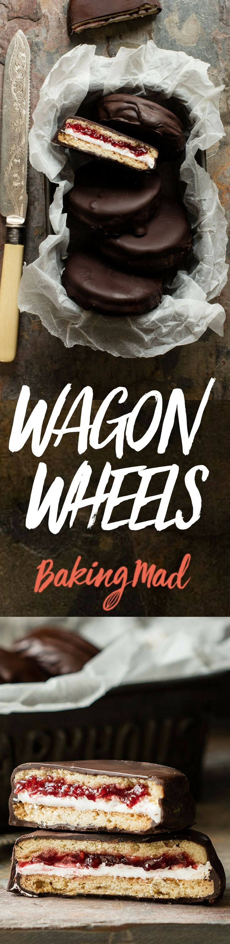 This recipe is for homemade wagon wheels. Take us back to our youth! #biscuits