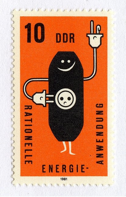 Ok, I previously said I didn't know what this was or what it meant. Guess my brain was asleep. It's a stamp, from the Democratische Deutsches Republik, aka East Germany! Thanks to the comments for jogging my Deutsch memory! :)