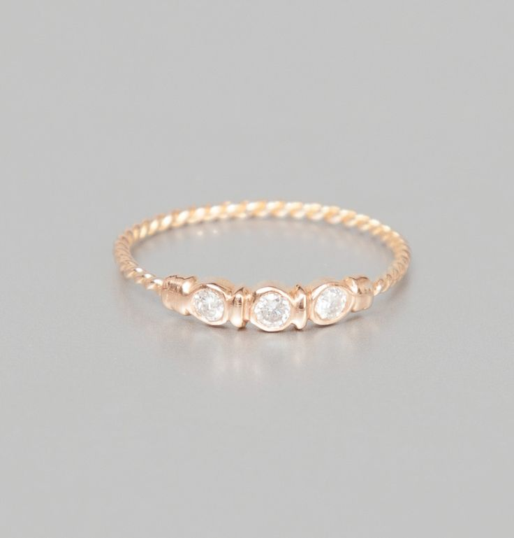 Monsieur Paris Pink Gold Aurore Ring on sale at L'Exception