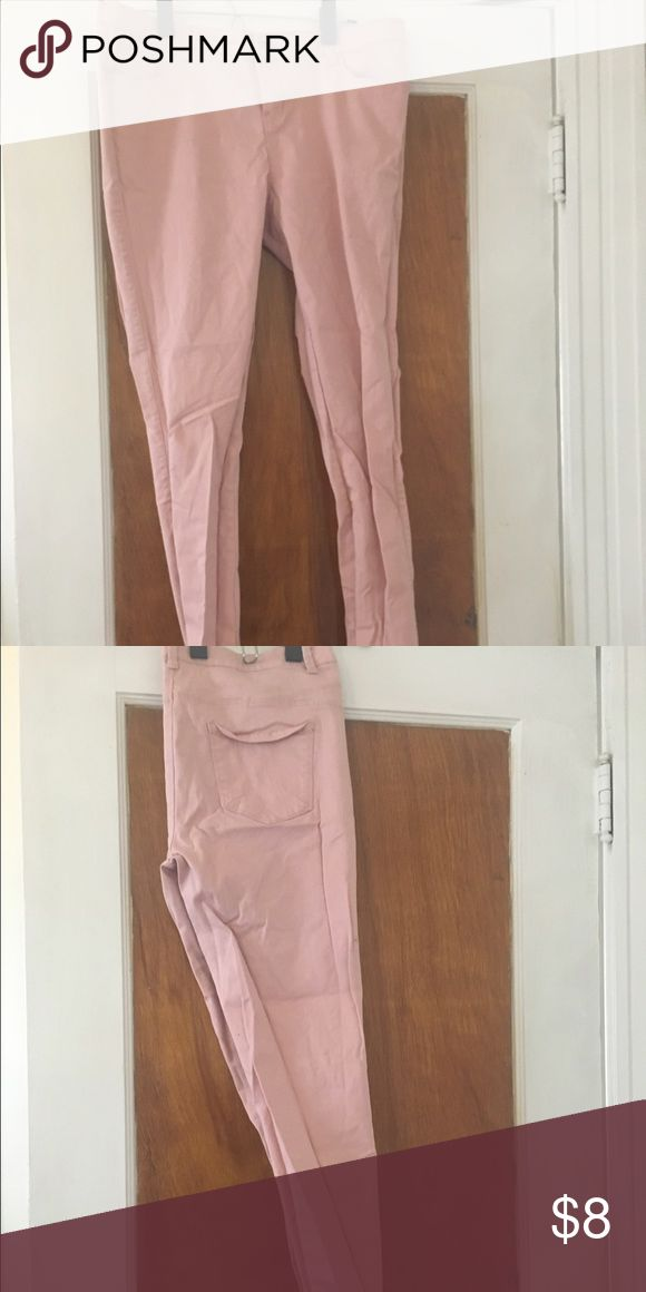 Pink Primark Jeggings Pale pink Primark jeggings, US size 14, runs small (fit more like a 12). Worn once. Functioning button closure and zipper. Will be washed and ironed before delivery. Primark Pants Skinny