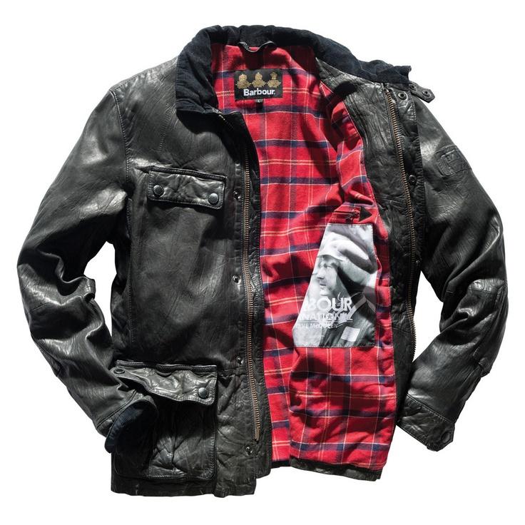 Steve McQueen Barbour leather jacket