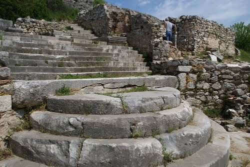 Ruins of the prison where St. Paul and Silas were in Philippi.