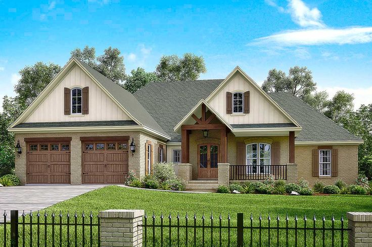 <ul><li>This 4 bedroom house plan has open concept living spaces and a flexible bonus room over the garage as well.