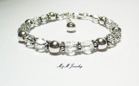 Birthstone Bracelet Birthstone Jewelry Swarovski by MandMJewelry, $36.00