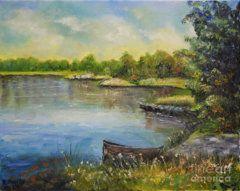 Raija Merila Painting - Seascape From Hamina 4 by Raija Merila