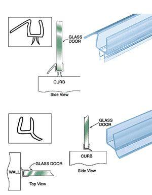 for replacing a glass shower door sweep