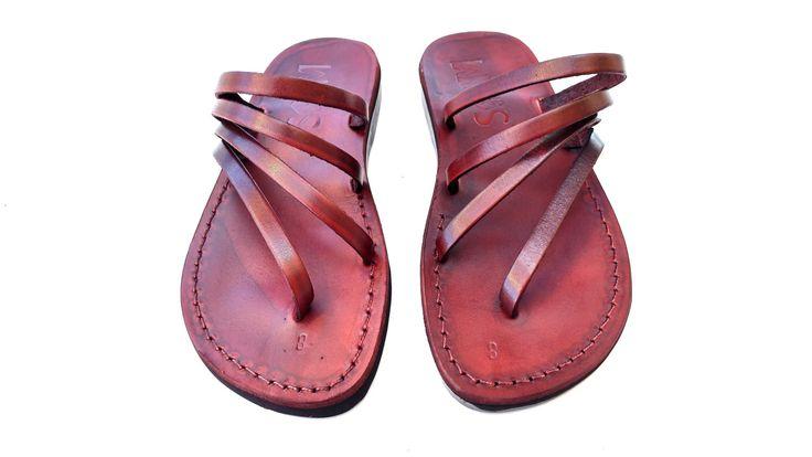 Leather Sandals, Leather Sandals Women, Sandals, Women's Shoes, RAINBOW, Flip Flops, Biblical Sandals, Jesus Sandals by Sandalimshop on Etsy
