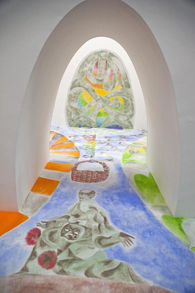 Francesco Clemente, Ave Ovo, 2005. Particolare. Museo Madre, Napoli. Photo (C) Amedeo Benestante