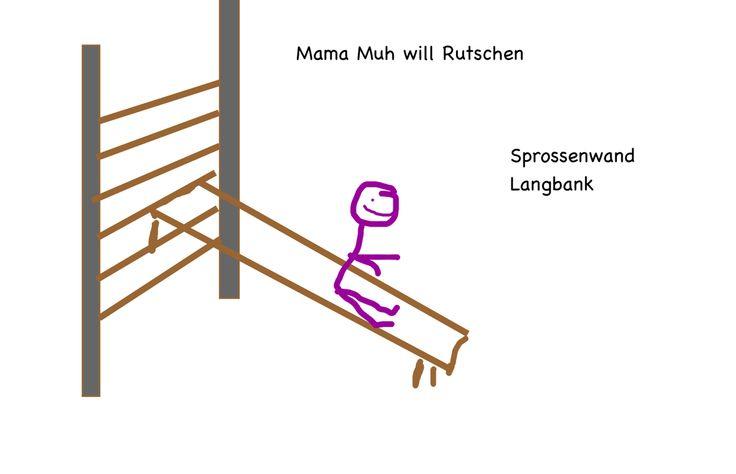 Mamma Muh kann Rutschen 1