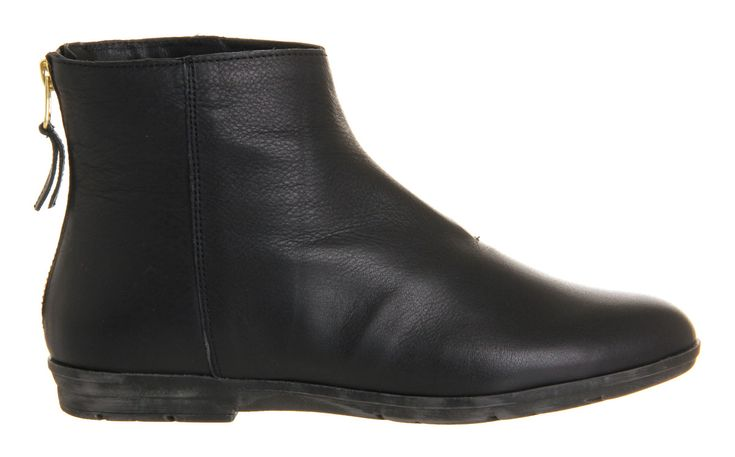 Office Marley Black Leather - Ankle Boots