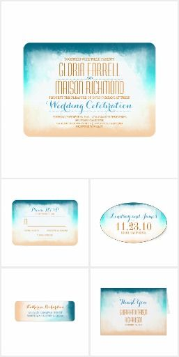 Ombre Watercolors Beach Wedding Collection