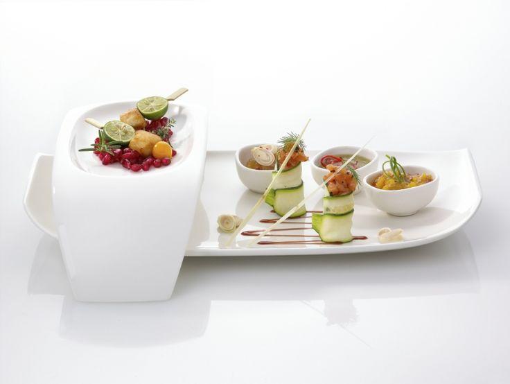 Villeroy & Boch Urban Nature Servies: Uniek vormgegeven en door het witte porselein perfect te combineren met ander servies. #tafelen #diner