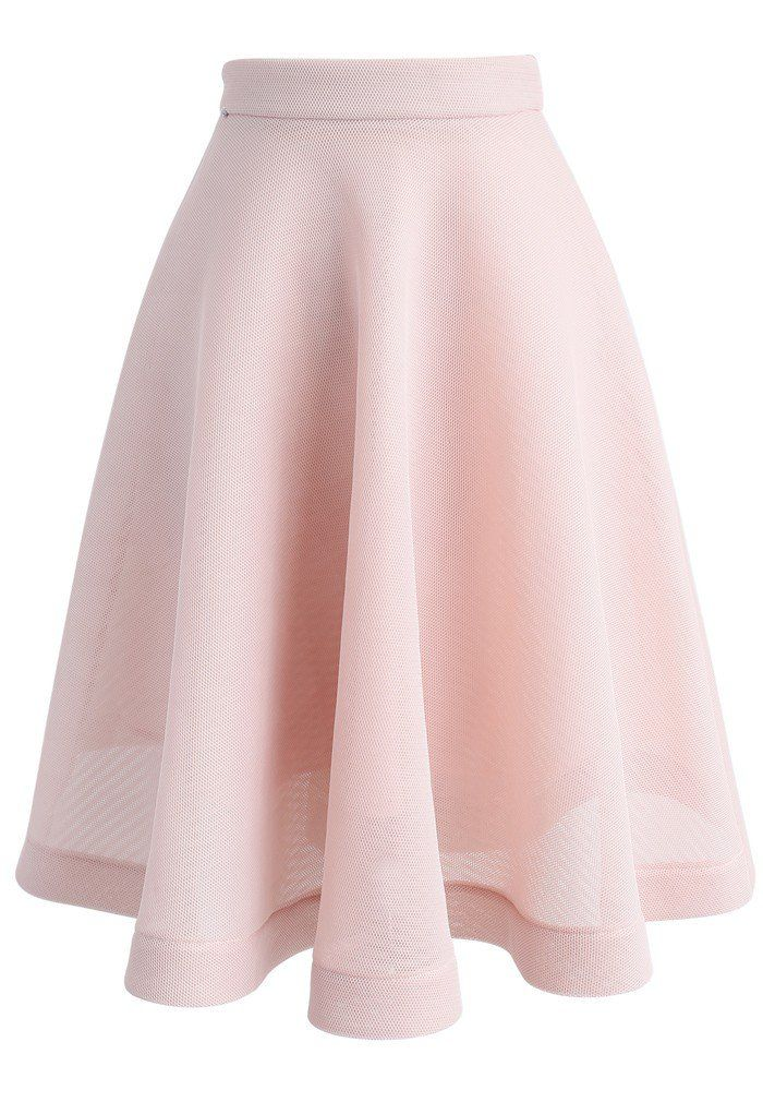 Opt to Twirl Airy A-line Midi Skirt in Pink- New Arrivals - Retro, Indie and Unique Fashion