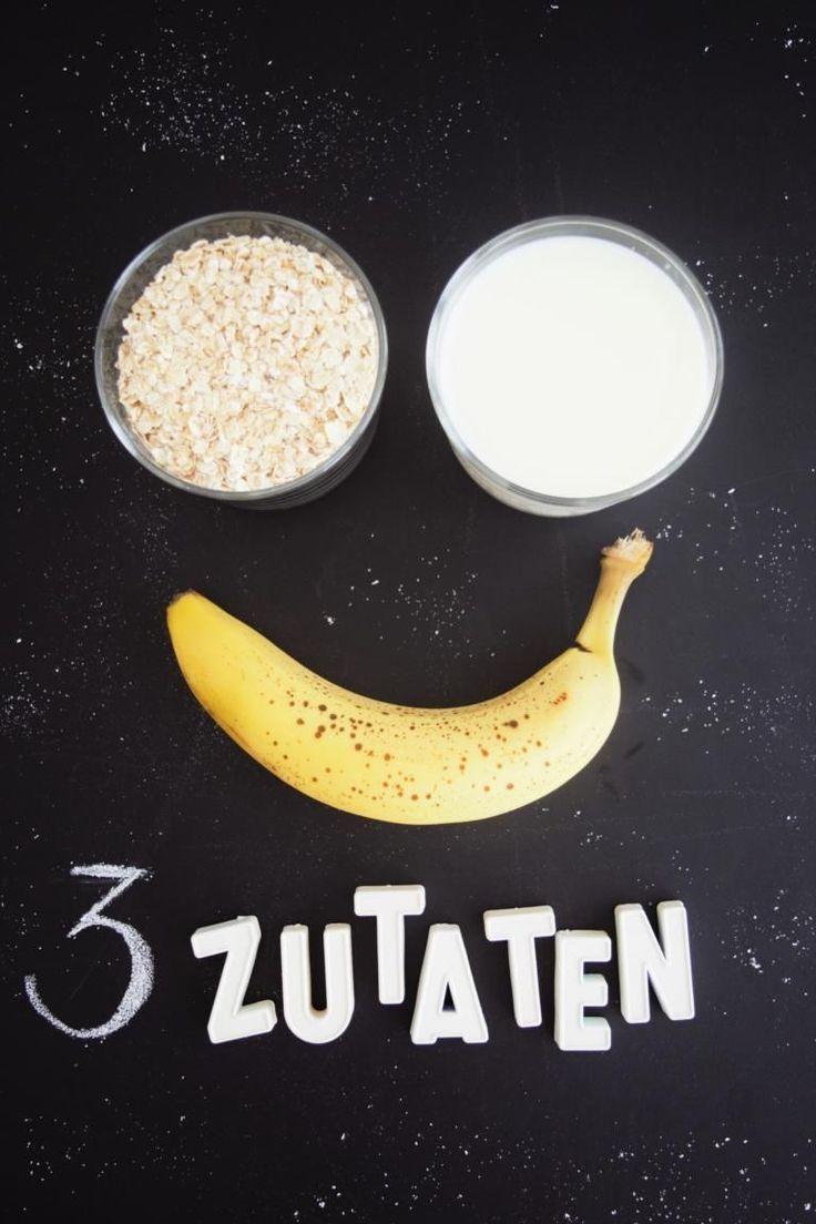 Gesunde Pancakes ohne Zucker – 3 Zutaten & 1 Mixer – Nadja