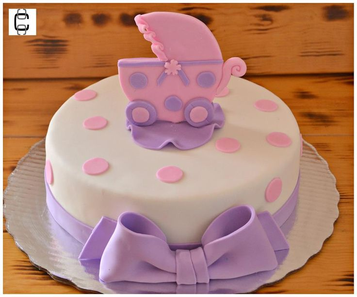 Girl Baby Shower Party Ideas / Girl Baby Shower Cake Ideas / Baby Carriage  Cake Ideas