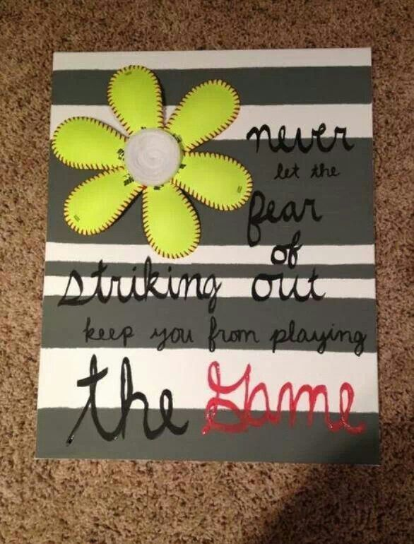 softball crafts