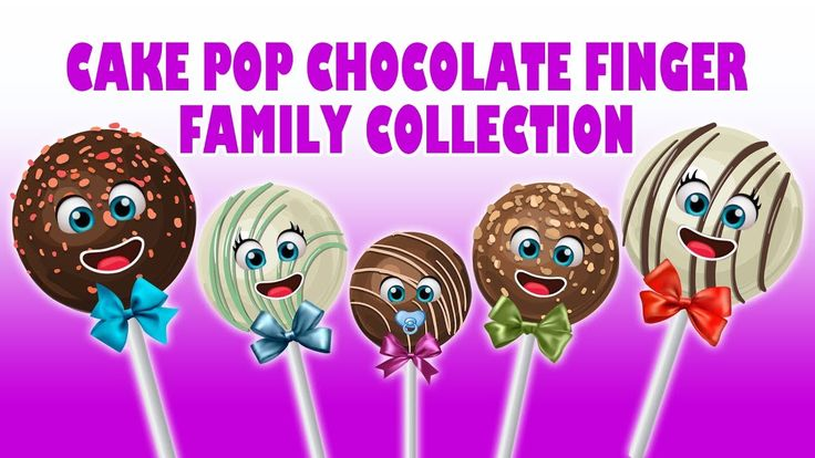 Chocolate Cake Pop Finger Family collection | Nursery Rhymes For Childre...