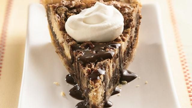 Pillsbury @Sue-Ann Metz Chocolate Surprise Pecan Pie. Print free coupons for your favorite Pillsbury food and more at http://MyPrintableCoupons.net