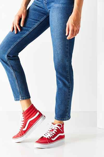 brilliant vans red shoes outfit