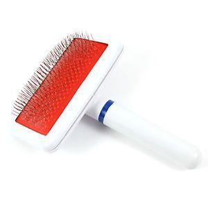 Plastic Grip Metal Wire DOG CAT Hair Brush Comb PET Grooming Tool White   eBay