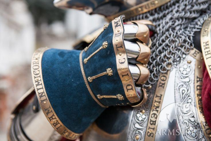 « Garde du Roi» gantelets articulés hourglass avec extérieur en suède à vendre