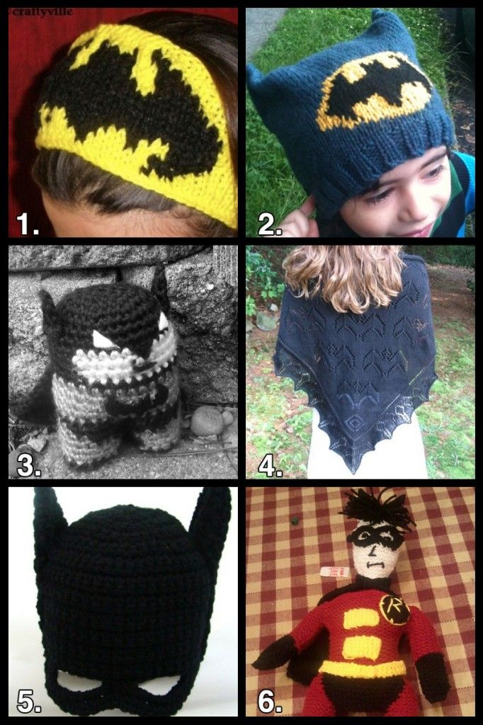 Geek Crafts: Batman Knit and Crochet Roundup #batman #knit #crochet do it y...