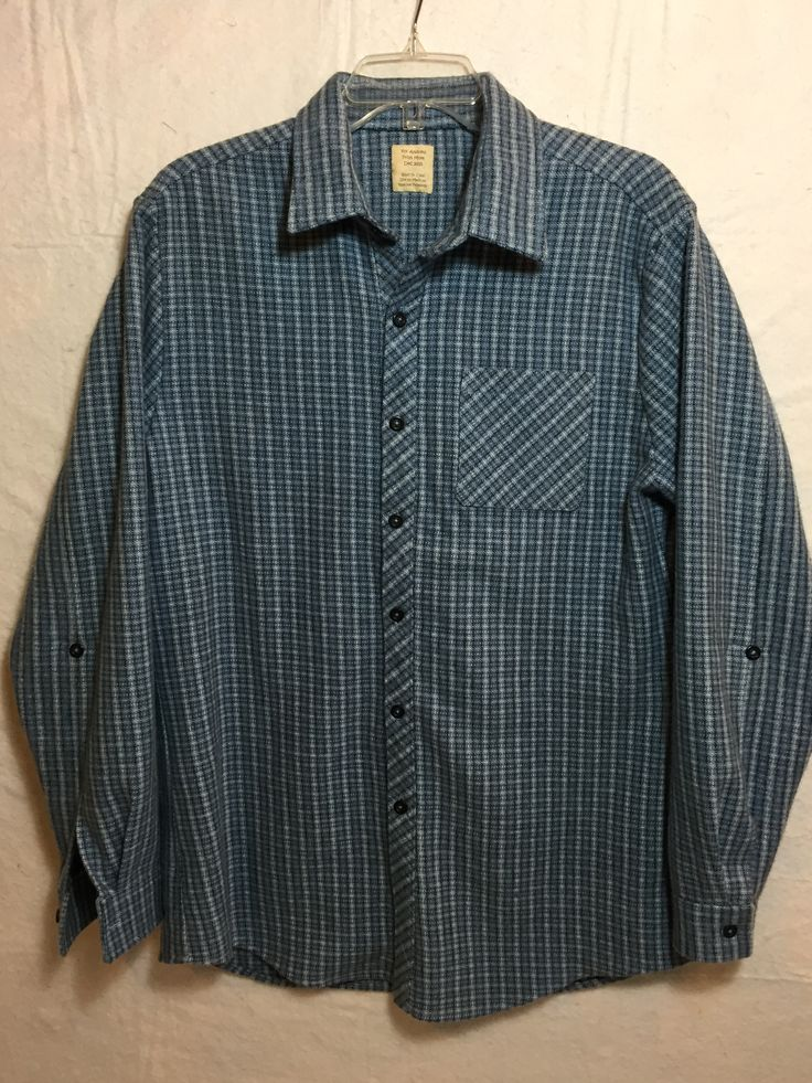 Flannel shirt #2. McCall's pattern M6613.  2015.